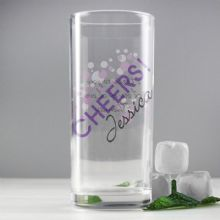 Personalised Cheers Hi Ball Glass P0307G50